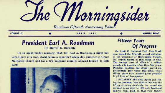 Search the Morningsider Newsletter Collection in Archives